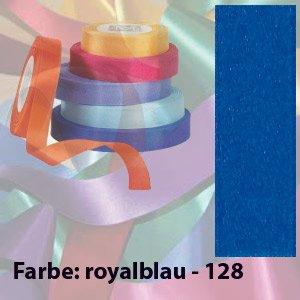 100m Seidenband, 15mm breit, Farbe: ROYALBLAU, Satinband, Schleifenband, Geschenkband (Seidenband 100%)