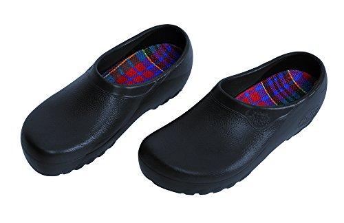 ALPRO Jolly Fashion Herren Clogs PU, Blau, Größe 39 mit normalem Fußbett (Alpro Clogs)