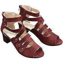 Amazon.es: botines grises - Rojo