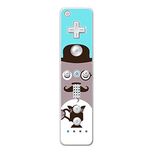 'Disagu SF de SDI de 3315_ 1135Diseño Protector de pantalla para Nintendo Wii Controller–Diseño café oso marrón transparente