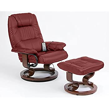 Napoli Heat And Massage Recliner Chair Burgundy Amazon