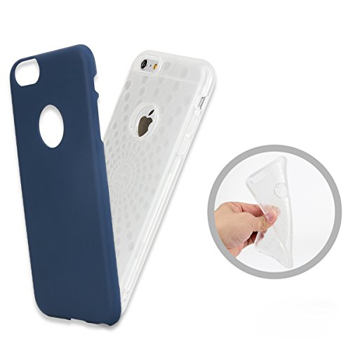 FindaGift iPhone 6 Plus/6s Plus Hülle, Weicher Fall TPU + PC Handycover Hybrid 2 in 1 Case Stoßfest Back Case Schutzhülle Anti-Rutsch Case Ganzkörper-Schutzschale für iPhone 6 Plus / iPhone 6s Plus Sc Silber