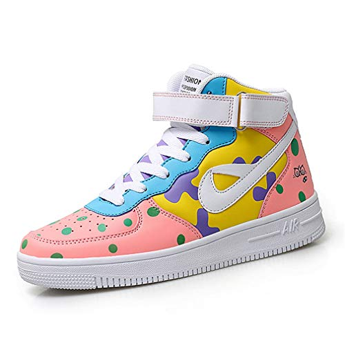 Womens Athletic Casual Schuh (YAN Women es Deck Shoes Microfiber Fashion Sneakers High-Top Casual Shoes Street Dance Shoes Sports Shoes Athletic Shoes,B,36)