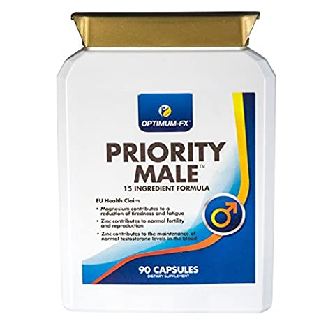 Priority Male Supplement including Magnesium, L-Arginine, Fenugreek, Maca Extract, Zinc, Ginkgo Biloba, Garlic Extract and (Maca Zinco Vitamine)
