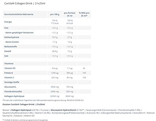 CARTILA Gelenk Drink Trinkampullen 21X25 ml – Collagen Kur