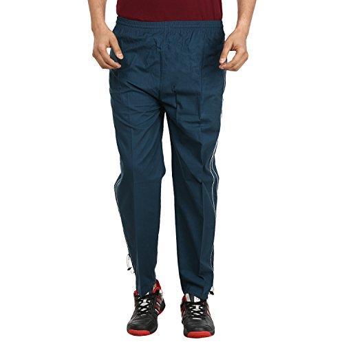 Grabberry Men's Solid Blue Cotton Track Pant