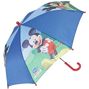 Childrens/Kids Disney Umbrella -Mickey Mouse/Minnie Mouse Options (See Description) (Blue/Mickey)