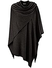 Zwillingsherz para Mujer Poncho de Cachemir One Size antracita