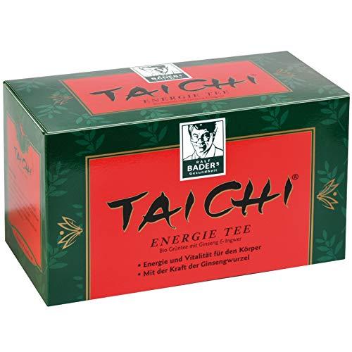 BADERs Tai Chi Energie Tee. Bio-Grüntee für mehr Energie und Vitalität. Mit der Kraft der Ginsengwurzel. 20 Filterbeutel. PZN: 03250803