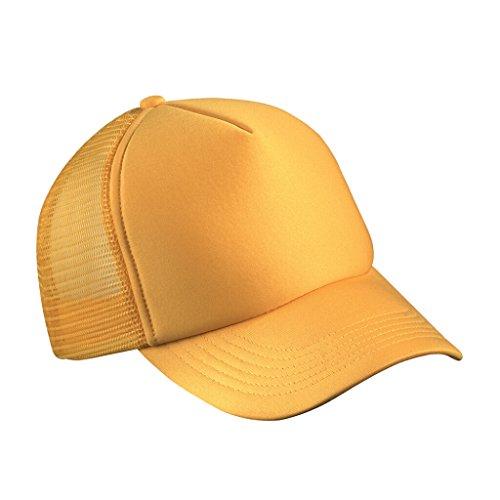 Myrtle Beach Trendiges 5 Panel Mesh Cap in zahlreichen Farbvarianten (gold-yellow) Panel-mesh-cap