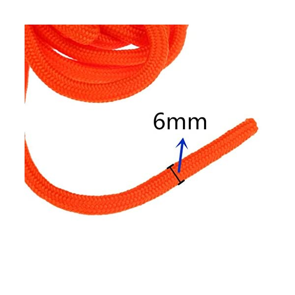 BeGrit 10 m 20 m 30 m Floating Rope Anchor Mooring Rope Multifunction Rope 6 mm Kayak Canoe Tow Throw Line with Aluminum… 4