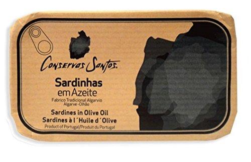 Canned Santos Sardinen in Olivenöl 120g (2er-Pack) (Thunfisch-oliven-öl)
