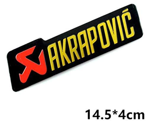 Aufkleber Akrapovic Aufkleberplatte aus Aluminium, halbsteif für Abgase Schalldämpfer, hohe Temperatur + 180ºC Vinyl, hochwertig laminiert