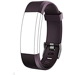 endubro Bracelet Rechange pour ID115 HR Plus | Fitness Tracker Yamay | moreFit Slim HR Plus | HolyHigh YG3 Plus HR | CAMTOA 115 Plus | NAKOSITE RAM2433 | Mpow | HR Plus di KG Physio (Violet)