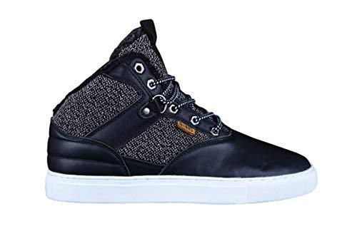 Djinns Thomson Left Sports Black Mid Top Sneaker US11/EU45
