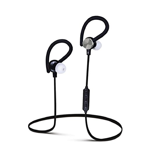 Koly Bluetooth Wireless Headset Wonder Deportes del auricular del auricular para el iPhone Samsung(Negro)