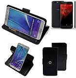 K-S-Trade® Case Schutz Hülle Für -NOA H10le- Handyhülle Flipcase Smartphone Cover Handy Schutz Tasche Bookstyle Walletcase Schwarz (1x)