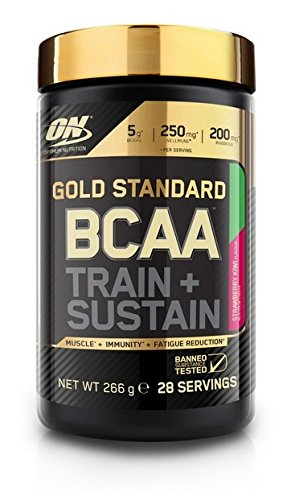 Optimum Nutrition Gold Standard BCAA Train & Sustain, Fresa y Kiwi - 266 g
