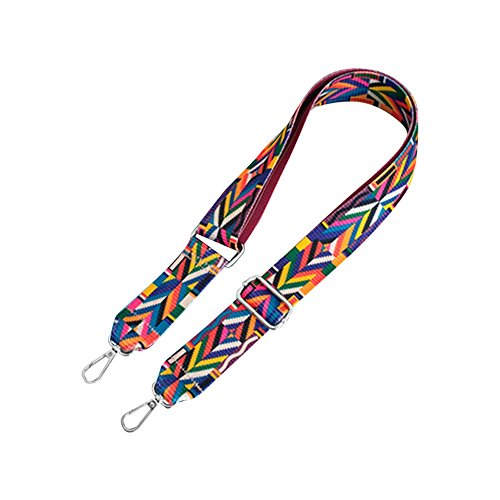 Schultergurt mit Swivel Haken für Damen Crossbody Taschen/Handtasche/Aktenmappe Gepäck silberfarben