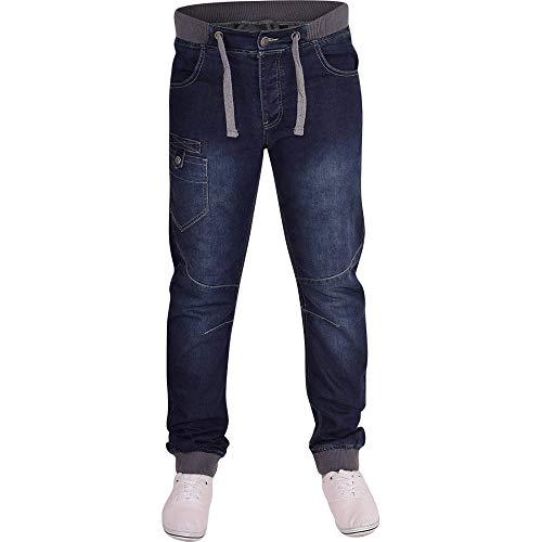 1e0afc09630097 Spindle Mens Designer Cuffed Denim Jogger Style Jeans Pants Denim Waist 28  Leg 32