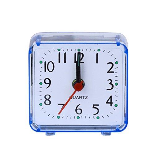 Kuvuiuee - Despertador analógico movimiento de despertador sin tic tac, mecanismo de cuarzo, plástico...