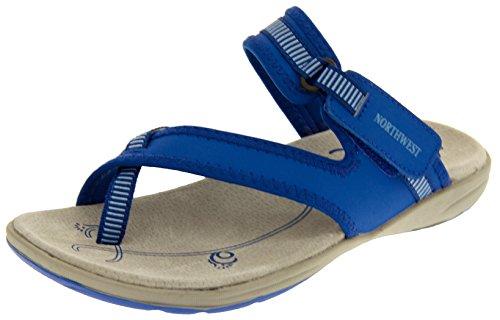 Footwear Studio Northwest Territory Miami Damen Blau Leder Strand Wandern Sandale EU 40 -