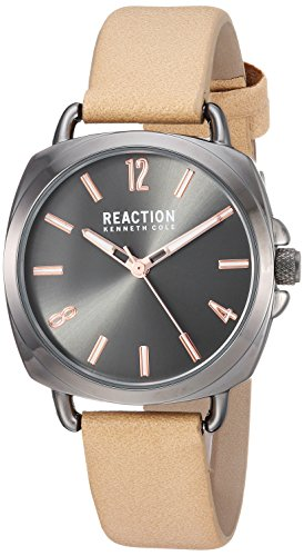 Kenneth Cole Reaction Womens Analog-Quartz Watch with Leather-Synthetic Strap RK50100005
