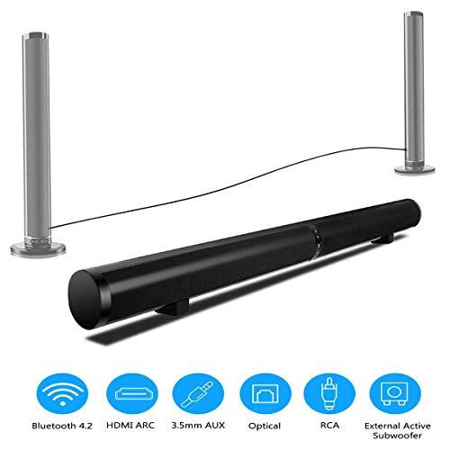 ATOMICO Sound Bar HiFi Bluetooth TV-Lautsprecher Smart Sound 3D-Fernbedienung Stereo Eingebauter Subwoofer Wand-Heimkino, Unterstützung RCA/AUX/Opt/USB Sound Usb-wand