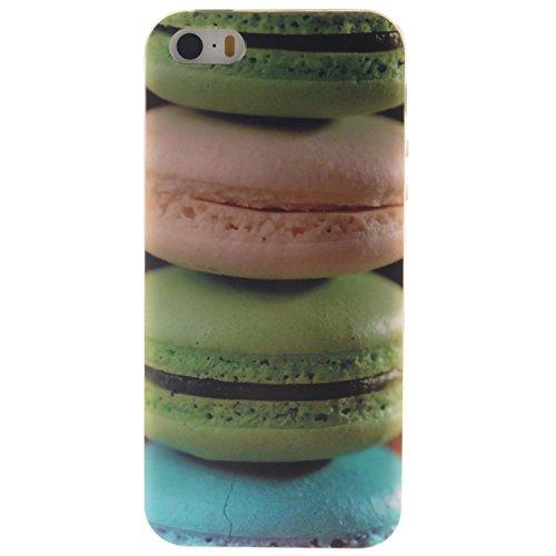 Coque iPhone SE, MOONCASE iPhone 5s Slim Coque Housse Etui Silicone Parfait Soft TPU Back Case Cover pour iPhone SE / 5S / 5 - TX06 Fleurs Series - TX07
