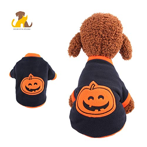 Nwayd Haustier Hund Katze Kostüme,Halloween-Kürbishaustierkleidung,4 GrößenL (Katze Kostüm Ziel)