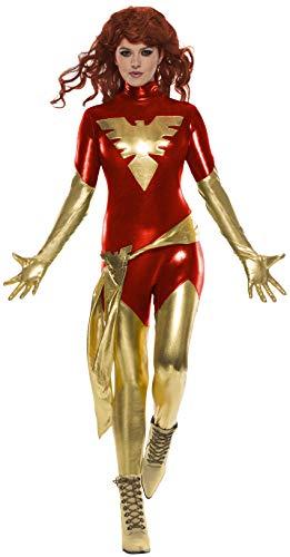 Phoenix Kostüm Fancy Dress - Rubie's Adult Women's Red Phoenix Fancy Dress Costume X-Small