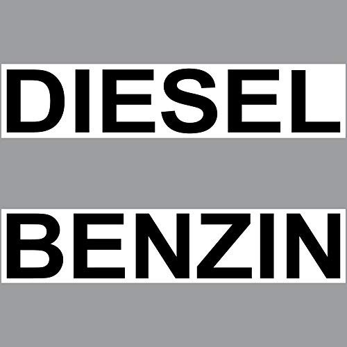 Preisvergleich Produktbild GreenIT 2 Aufkleber Set Sticker 20cm Diesel + Benzin Kraftstoff Tank Kanister Tankstelle Zapfsäule Hinweis