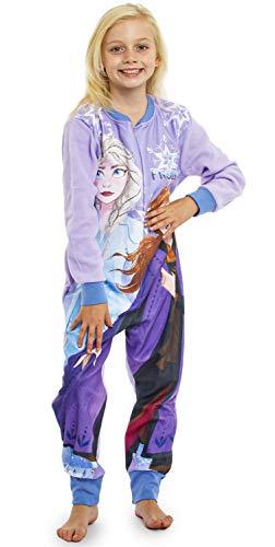 Disney Frozen 2 Kinder Schlafanzug Einteiler mit Anna und ELSA Von Die Eiskönigin 2, Onesie Pyjamas Schlafanzug Jumpsuit Extra Weiches Fleece, Kinder Kostüme Einteiler (18/24 Mois) (3/4 Jahre)