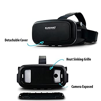 "Elegiant Einstellbar Universal 3d Vr Brille 3d Vr Karton Video Movie Game Brille Virtuelle Realität Glasses Für 3.5""-6"" Android Ios Iphone Samsung Galaxy Mega 2 Galaxy Note 4 Galaxy Note 3 Galaxy Note 4 Galaxy Note 5 Galaxy Note Edge Galaxy S6 Edge Galaxy S6 Galaxy S8 Iphone 8 6 6s 7 Plus 7 Lg G3 Sony Experia T2 Ultra Xperia Z3 + Moto Nexus 6 Htc One Max Wunsch 816 Die M9 Asus Zenfone 2 Uswgoogle Pappkarton Oculus Rift Head Mounted Stirnband 8"