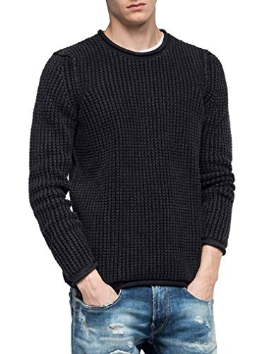 Replay Herren UK3050.000.G21280G Pullover, Schwarz (Black 98), (Herstellergröße: XX-Large)