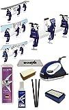 SkinStar Skiwax Set 11-teilig Skispanner Bügeleisen und Universal Wachs...