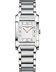 Baume & Mercier Hampton Femme Montre à quartz avec cadran blanc Affichage analogique et bracelet en acier inoxydable Argenté m0a10049