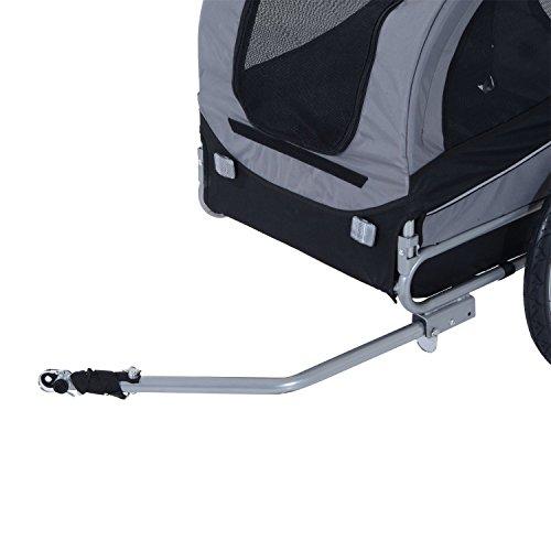 PawHut Hundeanhänger Fahrradanhänger Hunde Fahrrad Anhänger Grau - 5