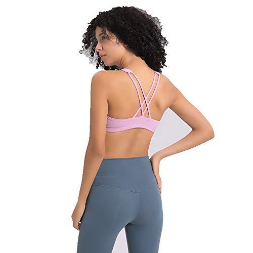 KKIMISPORT professionelle Sport BH stoßfest Frauen Laufen ohne Stahl Ring Yoga atmungsaktive unterwäsche Fitness BH, hellblau violett, s