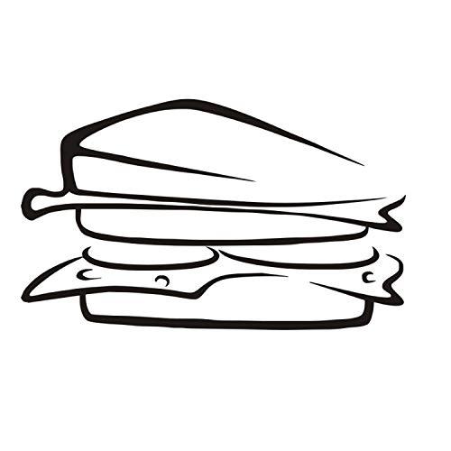 xmydeshoop Köstliche Sandwich Essen Vinyl Europäischen Stil Entfernbare Wandaufkleber DIY Wohnkultur wasserdichte PVC Küche Wandkunstwand 58X96 cm