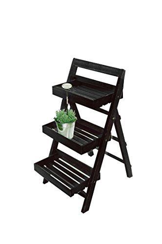 Koll Living 'Plante Escalier Dahlia Noir – Regard de fixation pour maison, jardin, balcon – en bois massif