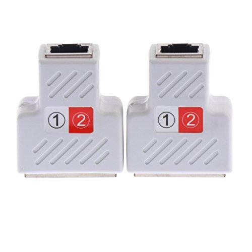 Nadel Abschirmung Gerät (Sharplace 2 Stücke RJ45 Splitter Adapter 1 In 2 Netzwerkkabel Splitter - Weiß)