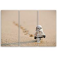 ge bildet hochwertiges leinwandbild xxl stormtrooper iv walking 120 x 80 cm mehrteilig