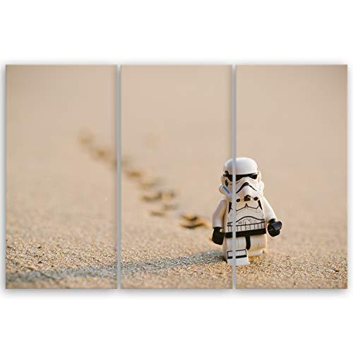 ge Bildet® hochwertiges Leinwandbild - Stormtrooper IV Walking - 90 x 60 cm mehrteilig (3 teilig) 3062IVD F