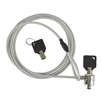 Ordinateur portable universel 1,8 m Câble de verrouillage de chaîne de sécurité clés cadenas ordinateur SIL262