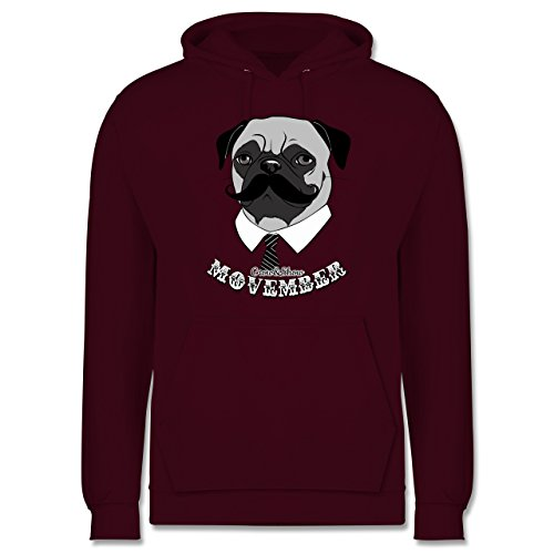 Statement Shirts - Movember Mops - Männer Premium Kapuzenpullover / Hoodie Burgundrot