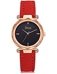 273cd8b06c09 Reloj de Pulsera de Señora Reloj de Pulsera de Moda con Esfera Redonda y  Diseño de Pedrería Reloj de Cuarzo de…