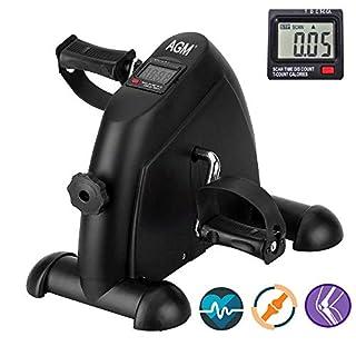 Mini Bike Heimtrainer Bewegungstrainer Arm- und Beintrainer Pedaltrainer für Senioren und Junge mit LCD-Monitor Einstellbarer Widerstand