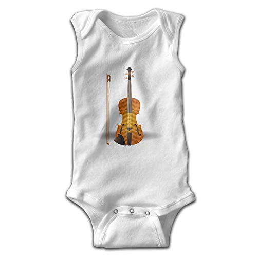UYTGYUHIOJ Baby Sleeveless Bodysuits Violin Unisex Cute Lap Shoulder Onesies -