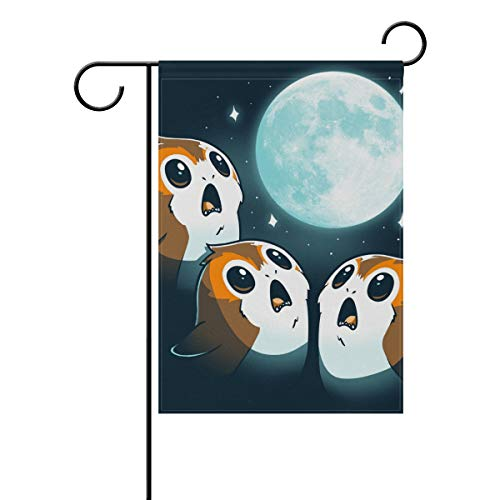 Lennel Garden Yard Home Flag Banner {Spac} Zoll Mond Star Wars Teeturtle Dekorative Hausflagge für Hochzeit Party Zuhause Indoor Outdoor Decor, Mehrfarbig, ()